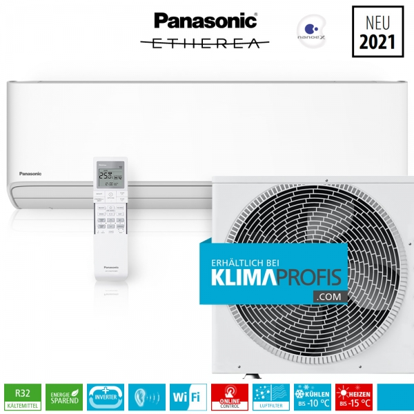 Panasonic Etherea CS-Z35XKEW WiFi R32 Inverter Plus Klimageräte-Set - 4,2 kW