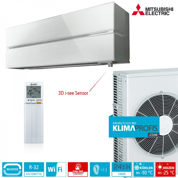 Mitsubishi Electric MSZ-LN50VG Diamond R32 Hyper Heating Wandklimageräte-Set - 5,8 kW