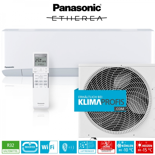 Panasonic Etherea CS-Z25VKEW WiFi R32 Inverter Plus Klimageräte-Set - 3,2 kW