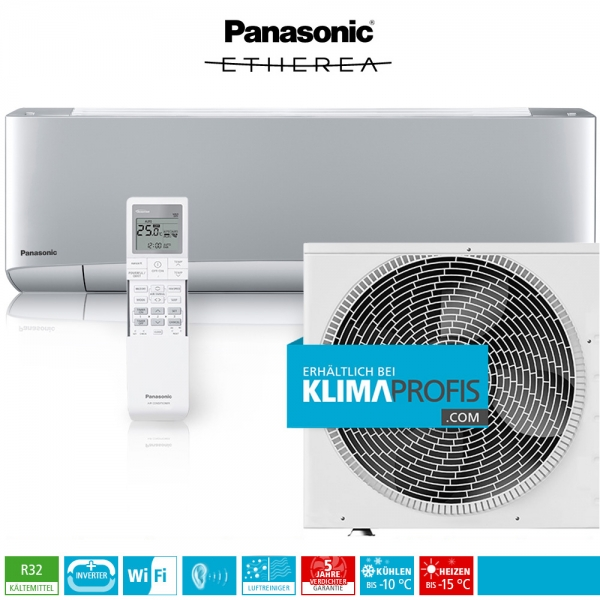 Panasonic Etherea CS-XZ25VKEW WiFi R32 Inverter Plus Klimageräte-Set - 3,2 kW