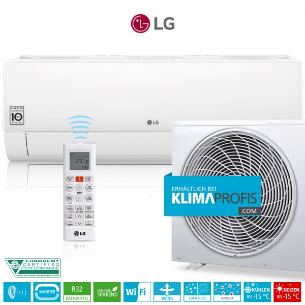 LG Deluxe DC09RQ Dual Inverter R32 - Wandklimageräte Set - 3,7 kW