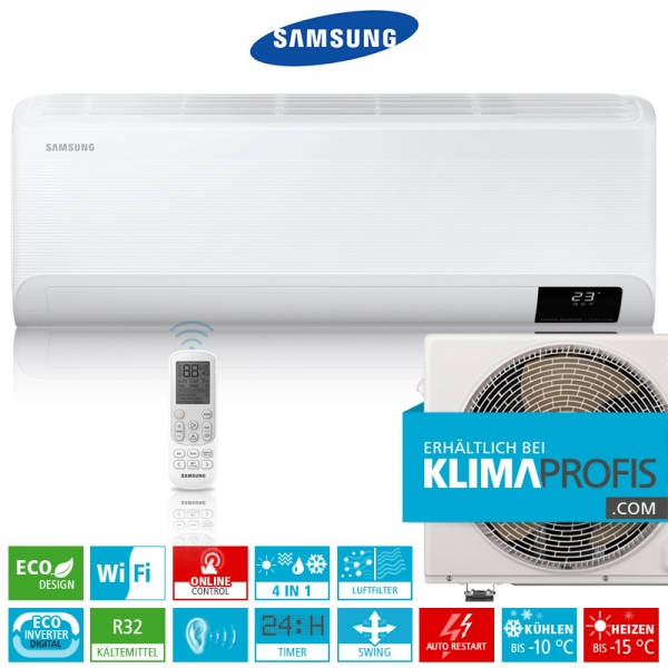 Samsung Cebu AR 09 ECO Digital Inverter R32 Wandklimageräte-Set - 3,4 kW