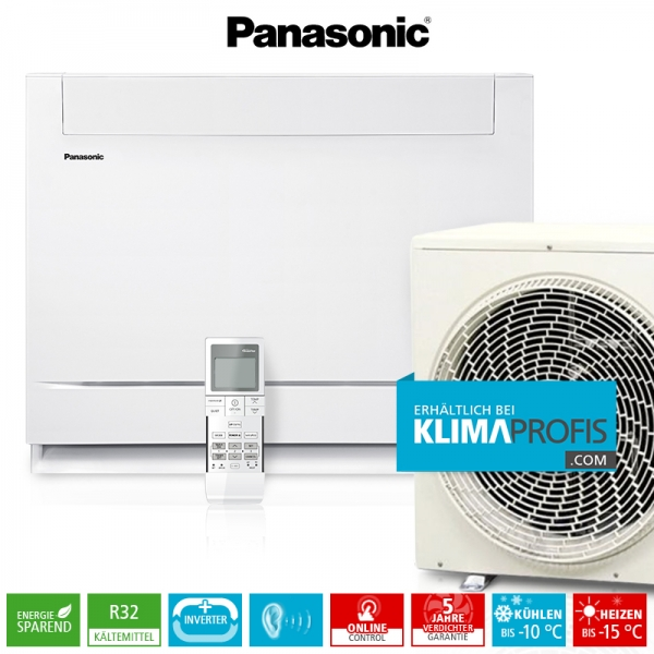 Panasonic Mini-Standtruhe CS-Z35UFEAW R32 Inverter Plus Klimageräte-Set - 3,8 kW