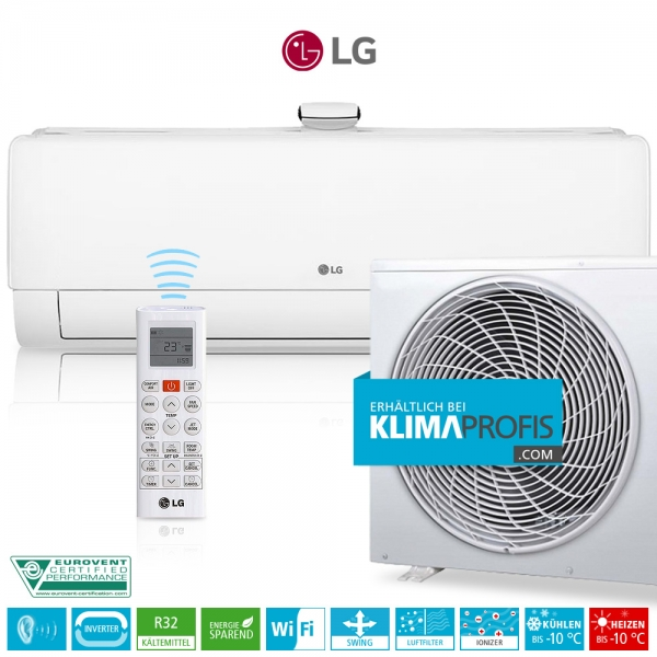 LG Deluxe Air Purification AP12RT Dual Inverter R32 - Wandklimageräte Set - 4,0 kW